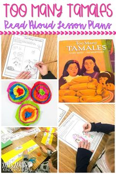 Print and teach reading lesson plans for kindergarten, first and second grade! Engaging responding to literature activities, vocabulary, grammar, sentence, study and a craft for the book, Too Many Tamales. #toomanytamales #readinglessonplans #engagingreaders