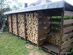 Einen stabilen Brennholzunterstand (Brennholzschuppen) gut und günstig selbst bauen | rakeknivens world