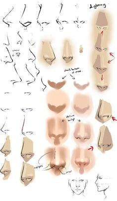 nose and drawing image