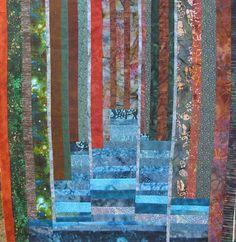 Beautiful contemporary art quilt