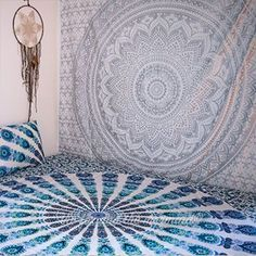 Glittering silver mandala tapestry is so vibrant it almost looks like it's glowing! Whether you use it as a beach blanket, wall decor or a bed sheet, you will love it. These mandala tapestries also ma