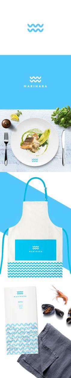"Logo concept for a restaurant ""Marinara"" with a slope for seafood #Logo #restaurant #seafood #logodesign #design #ocean #menu"