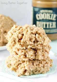 Cookie Butter No Bake Cookies   Living Better Together