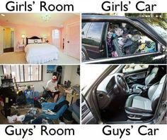 Girls vs boys – room and car http://ibeebz.com