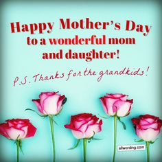 Ideas on how to say Happy Mother's Day to your daughter. Includes a variety of Mother's Day wishes to share with your daughter via social media, text. Mother's Day For Daughter, Happy Birthday Mom From Daughter, Wishes For Daughter, Happy Mothers Day Wishes, Happy Mothers Day Images, Mom Quotes From Daughter, Happy Mother Day Quotes, Happy Mother's Day Card, Funny Mothers Day