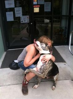 Miraculous timing.  Hugo, happy to be alive - what a story. Look at him giving a hug and a kiss!
