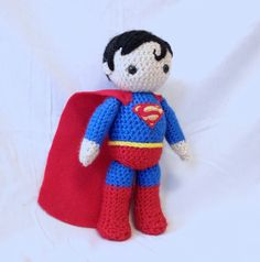 Superman - Crocheted Superhero. $30.00, via Etsy.