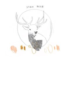 Sika Deer by Pink Paper Circus. Love the line quality.