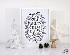 Affiche All you need is Love : Décorations murales par printyourlove http://printyourlove.fr