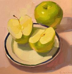 Apple Painting, Honeydew, Good Day, My Friend, Fruit, Film, I Like You, Paintings, Buen Dia