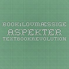 Book:Lovmæssige aspekter - TextbookRevolution