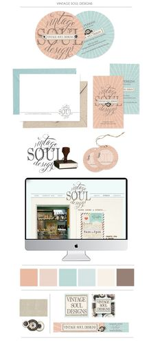 Branding | BlissandTell.  I like the colours and the simple pretty style