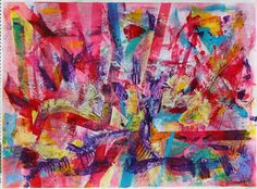 ARTFINDER: Ripples 2 by Nestor Toro - Very vivid painting with rapid changes in colors and contrasts. The perfect mix of watercolor and acrylics and organic and geometrical shapes. Did I mention ...