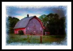 Empty Barn In Grundy Framed Print By Bonfire Photography