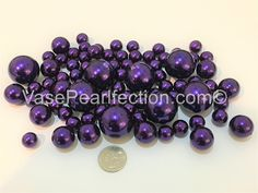 80 Jumbo & Assorted Sizes Deep Plum Pearls Vase Fillers Value Pack & Garden Pearl Centerpiece, Candle Centerpieces, Wedding Table Centerpieces, Vases Decor, Vase Decorations, Halloween Vase, Thanksgiving Centerpieces, Halloween Centerpieces, Vase Fillers