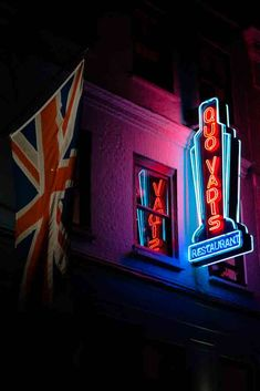 Soho, London, United Kingdom, worm's eye view photography of Quo Vadis neon ligh. - Best of Wallpapers for Andriod and ios Neon Sign Art, Led Neon Signs, Soho, Neon Signs Quotes, Worms Eye View, Wallpaper Iphone Neon, Sign Image, Vital Signs, Custom Neon Signs