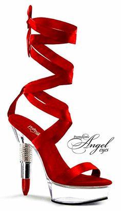 red Lipstick Heels! ✿⊱╮