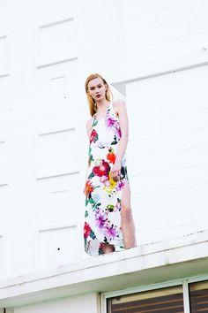 Sarah Jane Knapp, Cactus Floral Maxi Dress. Via Temper Collective