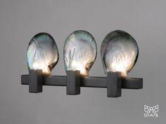 Thomas Boog inspired by nature - design lamp with nicely contrasting forms and material - #furniture #design #lights - die gelungene Kombination von Muscheln und minimalistischen Linien macht dieses Design zu einem Hingucker nicht nur auf den ersten Blick
