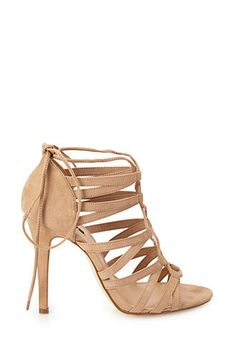 Strappy Faux Suede Sandals | FOREVER 21 - 2000102785