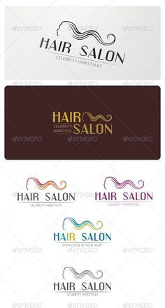 Hair Salon Logo Template • Available here → http://graphicriver.net/item/hair-salon-logo-template/5226719?s_rank=147&ref=pxcr