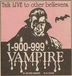 Talk LIVE to other believes vintage advertisement retro vampires Buffy The Vampire Slayer, Vampire Knight, Stanley Kubrick, Vampires, Matsuri Hino, Buffy Summers, Creatures Of The Night, Comic, Vintage Horror