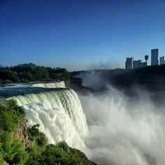 Check out the fabulous Niagara Falls.  Fun Fact - 3,160 tons of water goes over the Falls every SECOND!