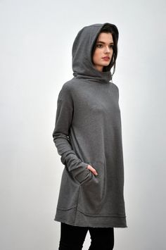NOCTEX - Unisex Long Pullover Grey (LIMITED)