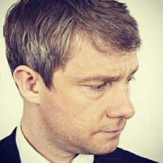 Martin Freeman being all beautiful, with his lovely nose and big eyes and grey hair... *big sigh*
