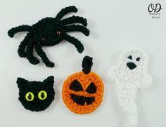 Super Quick Halloween Crochet Embellishments - gotta make these