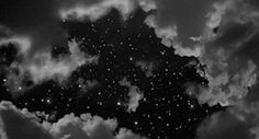 lights light Black and White dream stars starry clouds Magic star cloud dreamer black and white gif magical