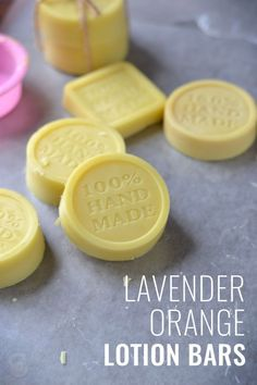 These super silky lavender orange lotion bars are perfect for moisturizing the skin with natural oils and butters. via /CoconutsKettles/