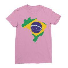 Brazil Women's Fine Jersey T-Shirt