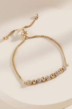 francesca's Anika Pave Crystal Pull Tie Bracelet – Gold Gold Bangles Design, Gold Jewellery Design, Gold Jewelry, Baby Jewelry, Bridal Jewelry, Gold Bracelet Indian, Gold Bracelet For Women, Diamond Bracelets, Sterling Silver Bracelets