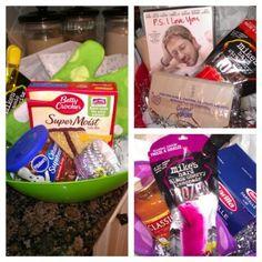 Bridal Shower door/game prizes. Baking theme, movie night theme & spaghetti dinner theme!