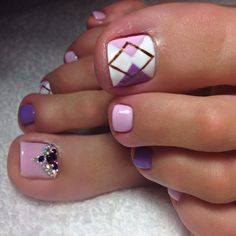 49 Ideas For Pedicure Designs Summer Toenails Purple Purple Toe Nails, Pretty Toe Nails, Cute Toe Nails, Summer Toe Nails, Pretty Toes, Purple Pedicure, Diy Nails, Toenail Art Designs, Pedicure Designs