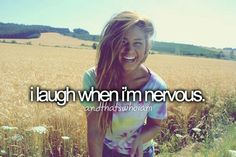 Lol I try to hide sadness nervousness etc with  laughter :) That's the only good way to help people with sadness.