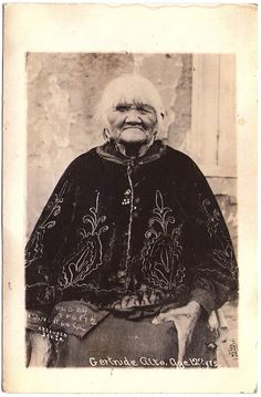KUMEYAAY Gertrude Alto, age 122, Kwaaymii Tribe, early 1900s. Postcard edited by TPG ET2 - San Diego, Cal. c.1907-1915.