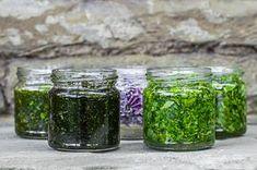 glicerydy ziołowe Preserves, Health And Beauty, Mason Jars, Food And Drink, Herbs, Nature, Diy, Women, Preserve