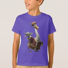 Ping T-Shirt created by kungfupanda. Personalize it with photos & text or purchase as is! Cartoon T Shirts, Kung Fu Panda, Vintage Shops, Fitness Models, Unisex, Casual, Sleeves, Mens Tops, Cotton