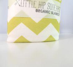 Chevron Baby Blanket - Chartreuse