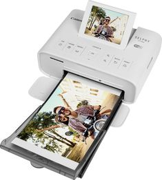 Shop Canon SELPHY Wireless Compact Photo Printer White at Best Buy. Find low everyday prices and buy online for delivery or in-store pick-up. Picture Printer, Digital Photo Printer, Best Photo Printer, Compact Photo Printer, Portable Photo Printer, Electronics Projects, Canon Selphy, Apple Iphone, Wireless Printer