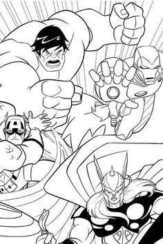 Avengers Earths Mightiest Heroes Coloring Page Superhero