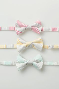 Little Boy Bowties  Gray Stripes  Pink Yellow by littlegentleman, $18.00