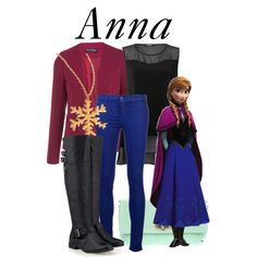 """""""Anna"""" by bryannnne on Polyvore- Love this Anna winter outfit! Oh I have boots! #ideas to wear at disneyland :)"""