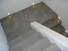 Cage d'escalier en Béton ciré