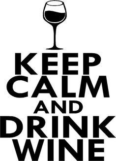 Keep Calm & Drink Wine vinyl wall decal sticker art decor kitchen DIY #Oracal #Modern