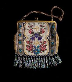Antique Bead Bag Exquisite Shimmering by mistyalbion on Etsy