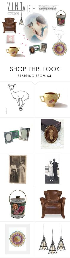 """vintage cottage"" by seasidecollectibles ❤ liked on Polyvore featuring interior, interiors, interior design, home, home decor, interior decorating, Sarreid, Gallery, kitchen and vintage"