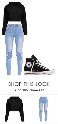 """Untitled #292"" by thenerdyfairy on Polyvore featuring Converse"